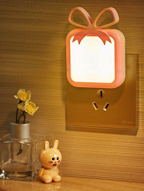 LED Optical Controller Bowknot Pattern Night Lamp - PINK