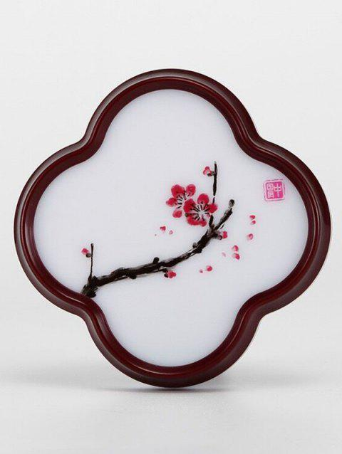 LED Optical Controller Chinese Flower Pattern Night Lamp - RED