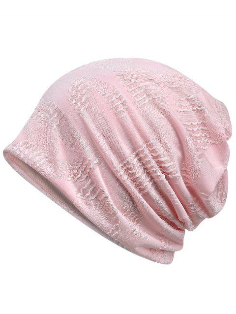 Vintage Solid Color Breathable Beanie Hat - LIGHT PINK
