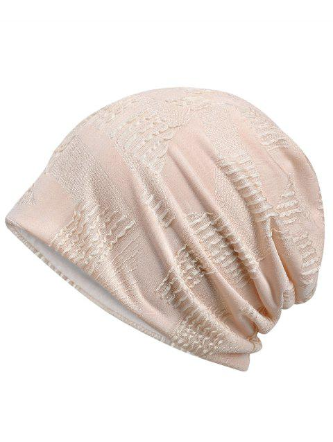 Vintage Solid Color Breathable Beanie Hat - DESERT SAND
