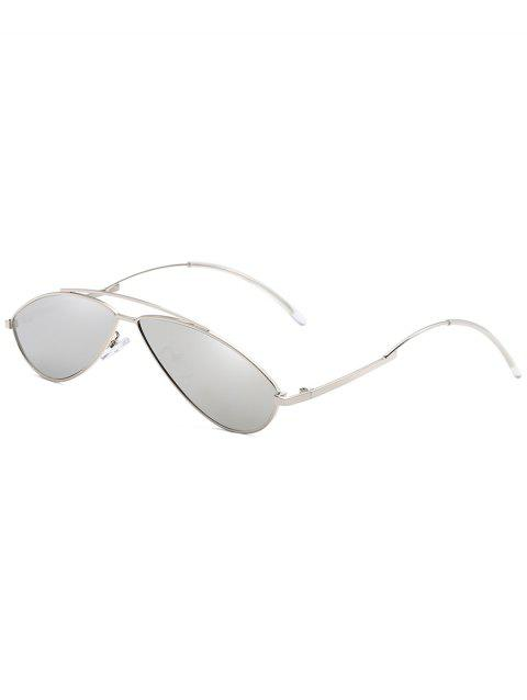 Anti Fatigue Irregular Frame Novelty Sunglasses - PLATINUM