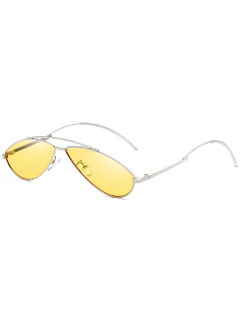Lunettes de soleil anti-fatigue Irregular Frame Novelty - Jaune