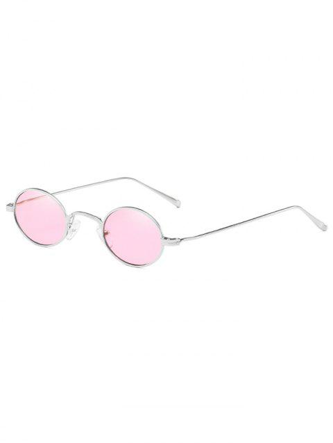 Anti Fatigue Metal Frame Travel Beach Oval Sunglasses - PIG PINK