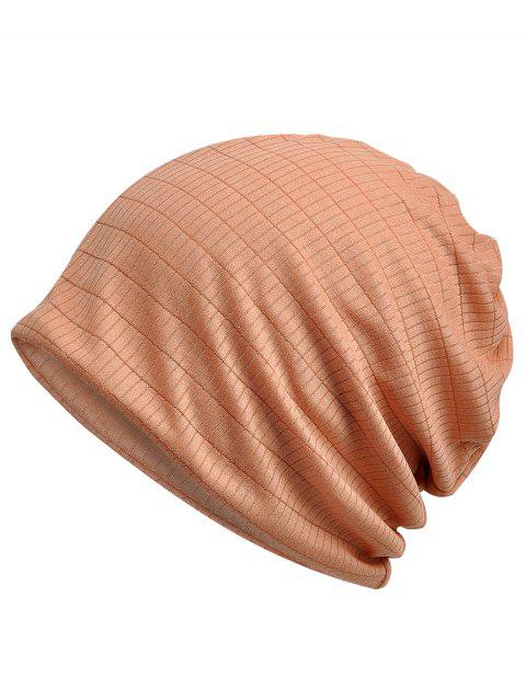 Solid Color Open Top Breathable Beanie - ORANGE PINK