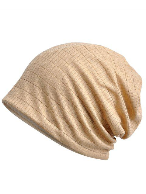 Solid Color Open Top Breathable Beanie - LIGHT KHAKI