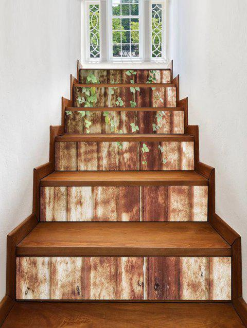 Rusty Wall Print Stair Stickers - multicolor 6PCS:39*7 INCH( NO FRAME )