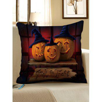 Halloween Pumpkins Printed Throw Pillowcase - multicolor W17.5 INCH * L17.5 INCH