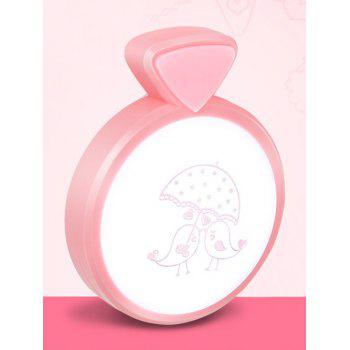 LED Optical Controller Heart Birds Pattern Night Lamp - PINK