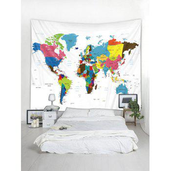 2018 colorful world map print tapestry wall art multicolor w inch l colorful world map print tapestry wall art multicolor w91 inch l71 inch gumiabroncs Image collections