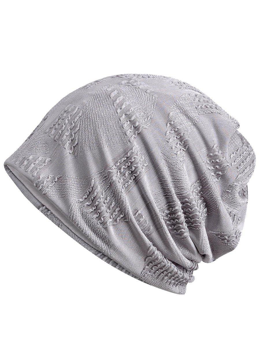 Vintage Solid Color Breathable Beanie Hat - GRAY CLOUD