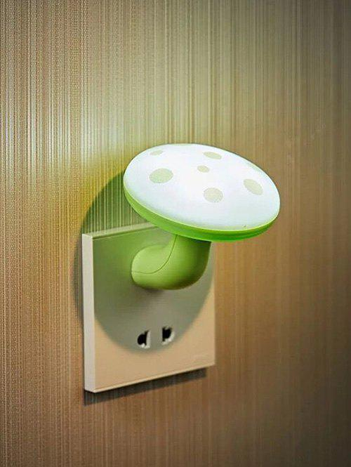 LED Optical Controller Mushroom Pattern Night Lamp - LIGHT JADE