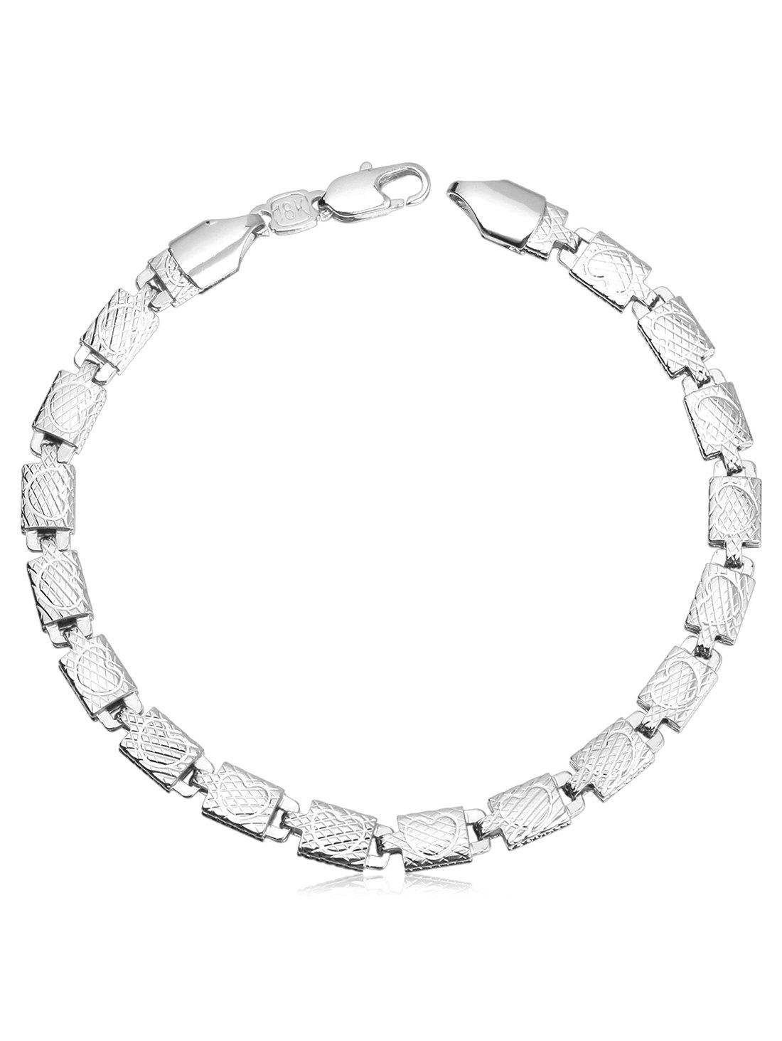 Stylish Love Heart Pattern Alloy Bracelet - SILVER