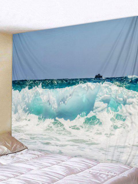Rough Sea Print Tapestry Wall Art - multicolor W91 INCH * L71 INCH