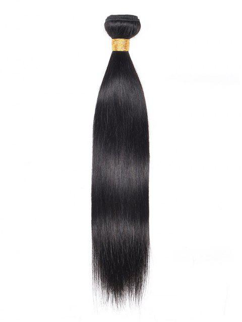 1Pc Straight Indian Virgin Human Hair Weave - BLACK 12INCH