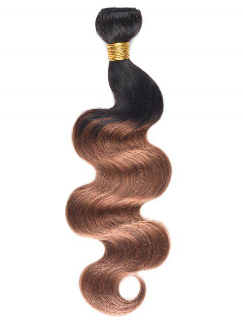Ombre Body Wave Indian Real Human Hair Weave - multicolor 14INCH