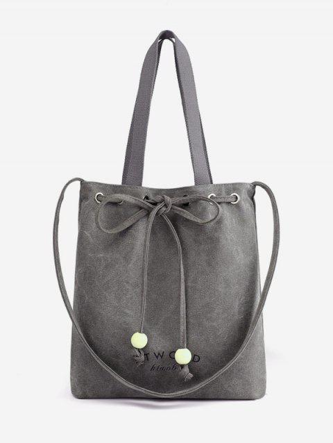 Beaded Knot Casual Vacation Outdoor Shoulder Bag - GRAY