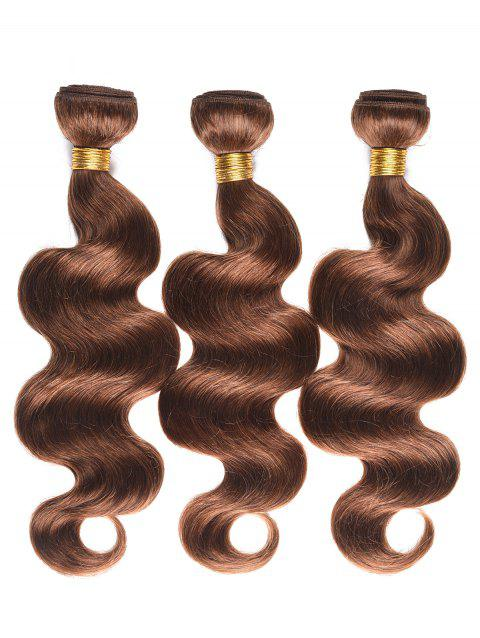 Real Human Hair Body Wave Hair Wefts - BROWN 20INCH*20INCH*20INCH