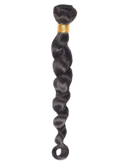 1Pc Body Wave Indian Virgin Human Hair Weave - BLACK 16INCH