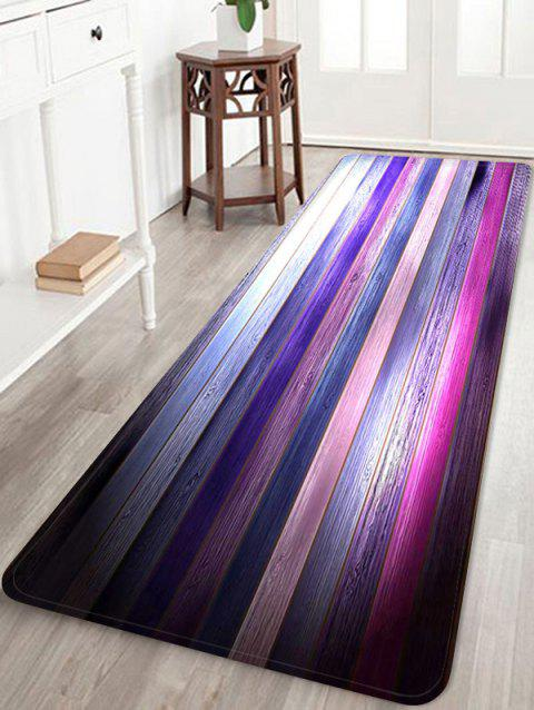 Colorful Wooden Print Skidproof Area Mat - multicolor W16 INCH * L47 INCH