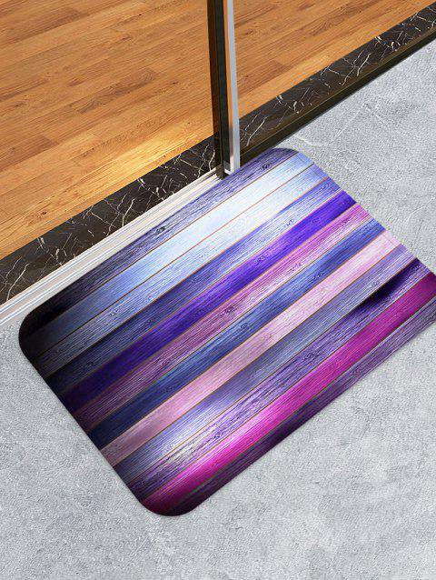 Colorful Wooden Print Skidproof Area Mat - multicolor W16 INCH * L24 INCH