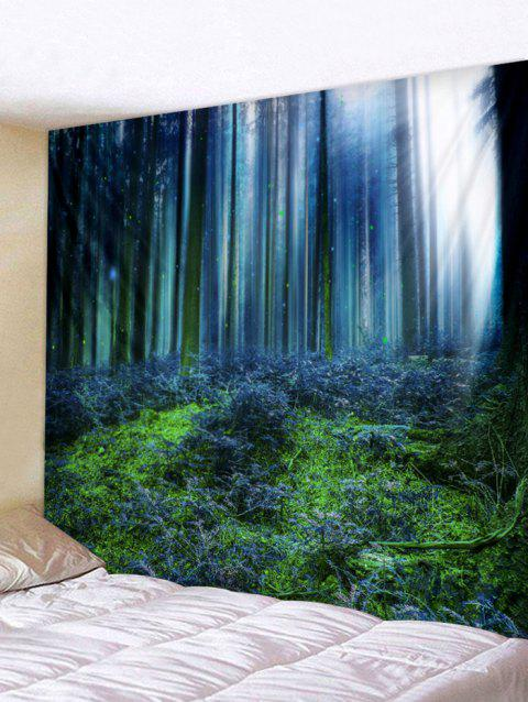 Forest Printed Wall Tapestry Hanging Decoration - CORNFLOWER BLUE W79 INCH * L71 INCH
