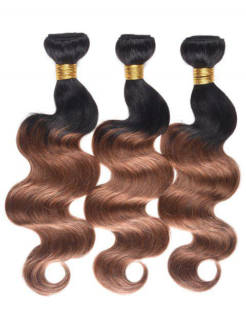Indian Human Hair Colormix Body Wave Hair Weaves - multicolor T 22INCH*22INCH*22INCH