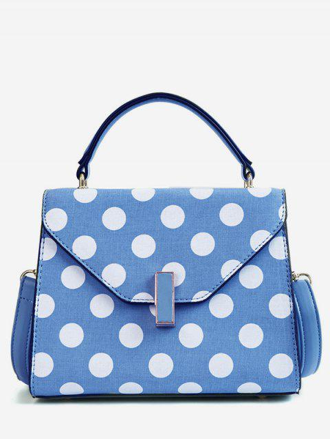 Vintage Polka Dot Flapped Envelope Handbag - BLUE