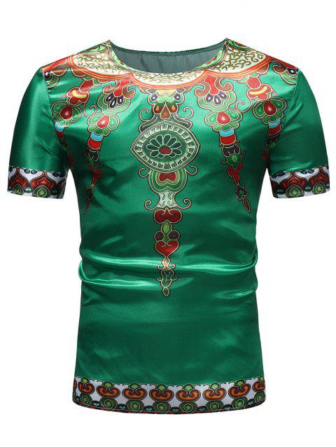 084ff9577 LIMITED OFFER] 2019 Casual Ethnic African Style Print Crew Neck T ...