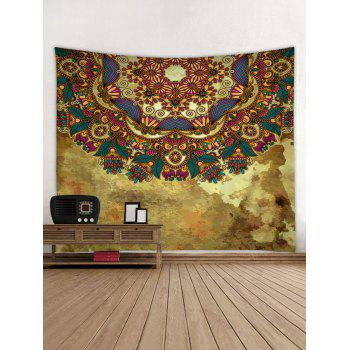 Vintage Print Tapestry Wall Hanging Decor - multicolor W79 INCH * L71 INCH