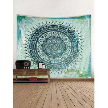 Boho Flower Print Tapestry Wall Art Decoration - multicolor W91 INCH * L71 INCH