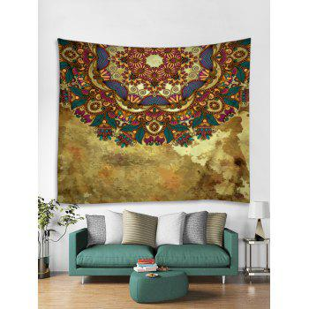 Vintage Print Tapestry Wall Hanging Decor - multicolor W91 INCH * L71 INCH