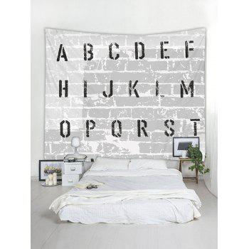 Letter Stonewall Print Tapestry Wall Art Decoration - multicolor W91 INCH * L71 INCH