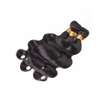 Indian Human Hair Body Wave Hair Weaves - BLACK 16INCH*16INCH*16INCH