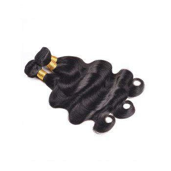 Indian Human Hair Body Wave Hair Weaves - BLACK 22INCH*22INCH*22INCH