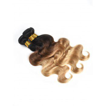 3Pcs Ombre Body Wave Indian Human Hair Wefts - multicolor 12INCH*12INCH*12INCH