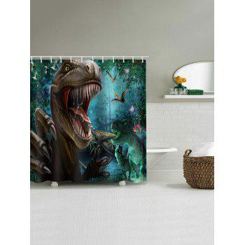 Tyrannosaurus Printed Stall Shower Curtain - multicolor W71 INCH * L71 INCH