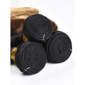 3Pcs Ombre Body Wave Indian Human Hair Wefts - multicolor 22INCH*22INCH*22INCH