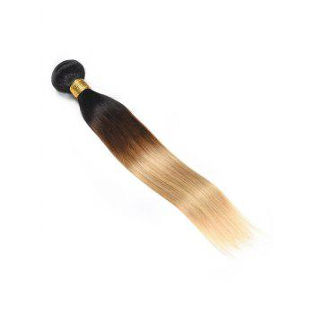 Ombre Straight Indian Human Hair Weave - multicolor 14INCH