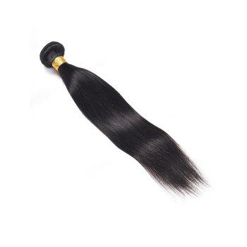 1Pc Straight Indian Virgin Human Hair Weave - BLACK 24INCH