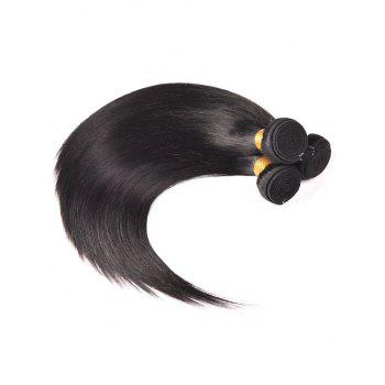 3Pcs Straight Indian Virgin Real Human Hair Weaves - BLACK 18INCH*18INCH*18INCH
