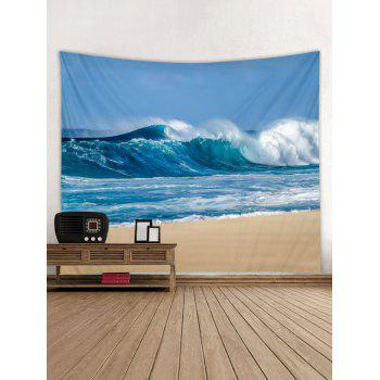 Sky Beach Print Wall Tapestry Hanging Decor - GLACIAL BLUE ICE W59 INCH * L59 INCH