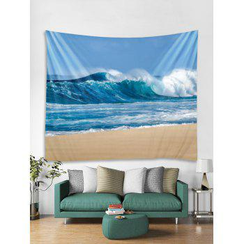 Sky Beach Print Wall Tapestry Hanging Decor - GLACIAL BLUE ICE W79 INCH * L59 INCH