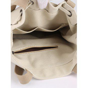 Beaded Knot Casual Vacation Outdoor Shoulder Bag - BEIGE