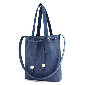 Beaded Knot Casual Vacation Outdoor Shoulder Bag - DEEP BLUE