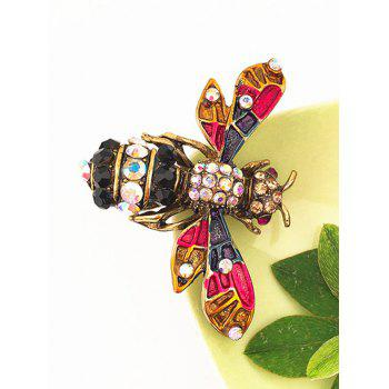 Vintage Flying Insect Rhinestone Brooch - multicolor