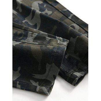Fit Zip Fly Pockets Jeans - CAMOUFLAGE GREEN 36