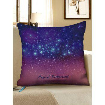 Starry Sky Print Linen Pillow Case - multicolor W17.5 INCH * L17.5 INCH