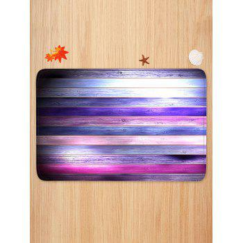 Colorful Wooden Print Skidproof Area Mat - multicolor W20 INCH * L31.5 INCH