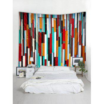 Colorful Wooden Printed Wall Tapestry Hanging Decoration - multicolor W59 INCH * L59 INCH