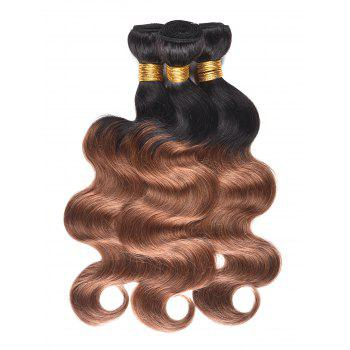 Indian Human Hair Colormix Body Wave Hair Weaves - multicolor T 10INCH*10INCH*10INCH
